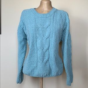 Coral blue knit sweater